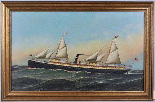 """A. Jacobsen, """"Steamship Olivette"""" O/C"""