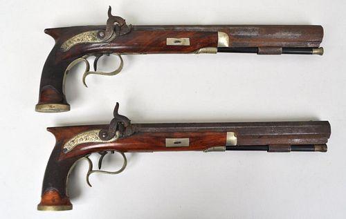 Pair Richard Hollis & Sons, London Dueling Pistols