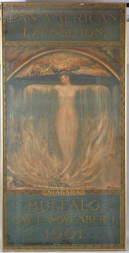 """Spirit Of Niagara"" Pan-American Exposition Poster"