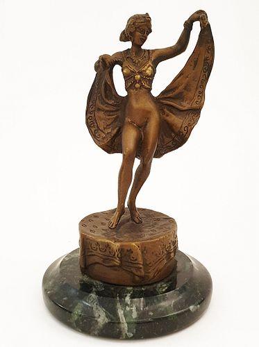 Orientalist Dancer, A Bergman Bronze Figurine