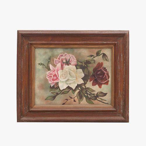 """E. M. Rosas. Firmado. Ã""""leo sobre tela. Enmarcado. 28 x 38 cm"""
