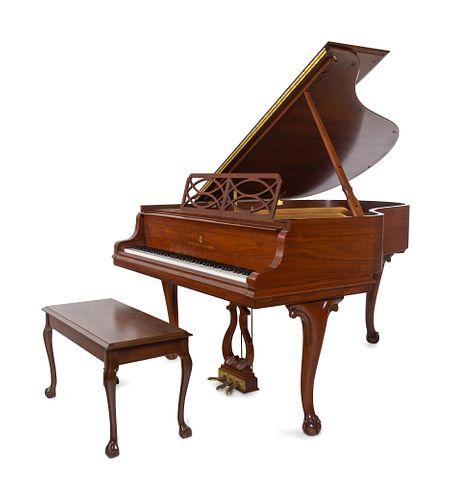 A Steinway & Sons Louis XV Style Walnut Medium Grand Piano