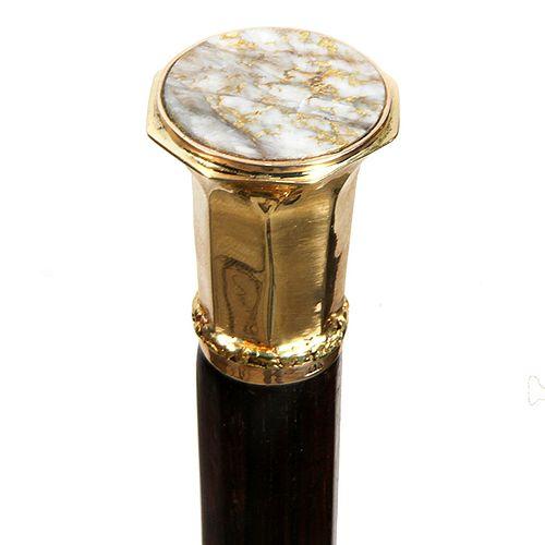 Gold Quartz Dress Cane