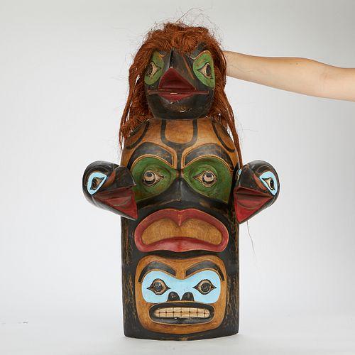 Large Northwest Coast Thunderbird Mask Wood Carving