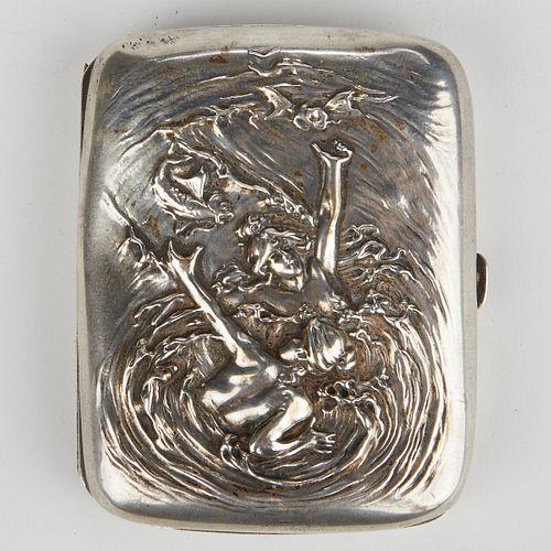 Kerr Art Nouveau Silver Sea Nymphs Case