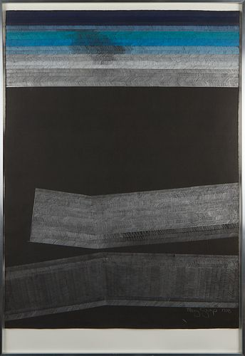 Mary Griep Abstract Lithograph 1978