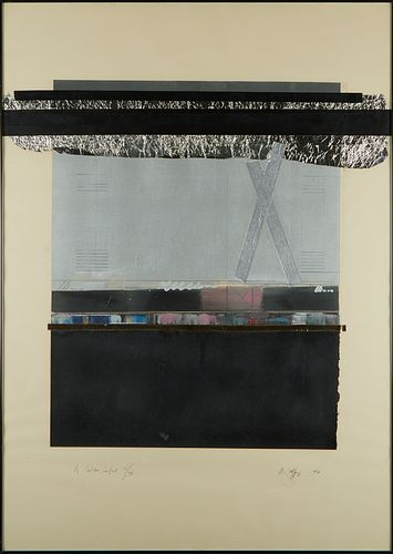"""Mary Palffy """"A Coal-Bed Construct"""" Monotype"""