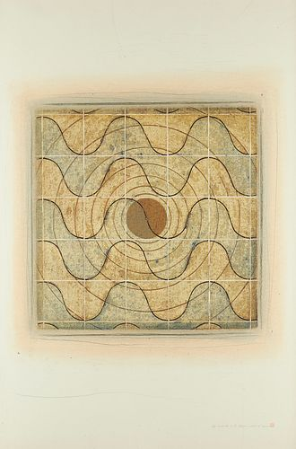 Kwang Jean Park Waves Woodcut and Drawing
