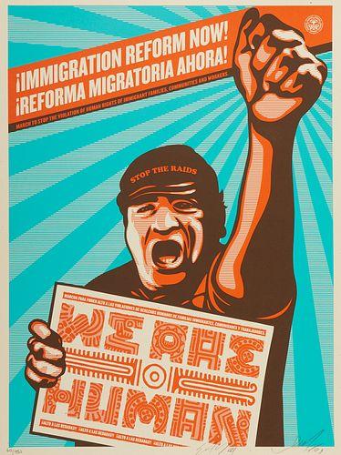 "Shepard Fairey Ernesto Yerena ""Immigration Reform Now!"" Prints"