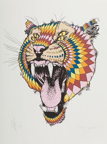 Kelsey Brookes Tiger Color Screenprint