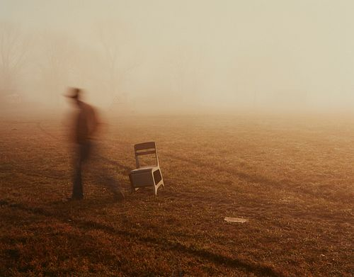 Birney Imes Photograph Chair in Field