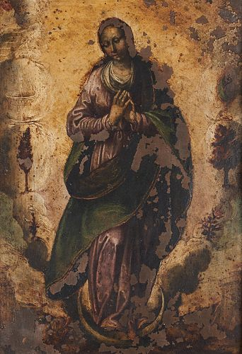 After Francisco de Zurbaran Immaculate Conception Oil on Copper