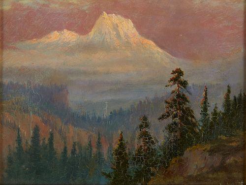 Feodor von Luerzer Mountain Painting