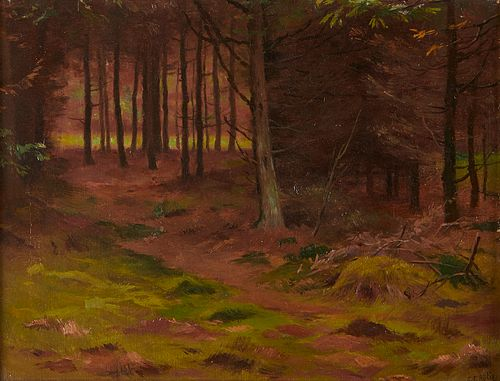 Georges Rotig Forest Landscape Painting