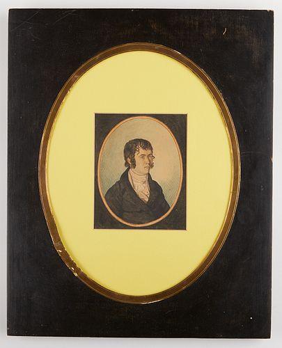 Grp: 4 European & American Portrait Miniatures