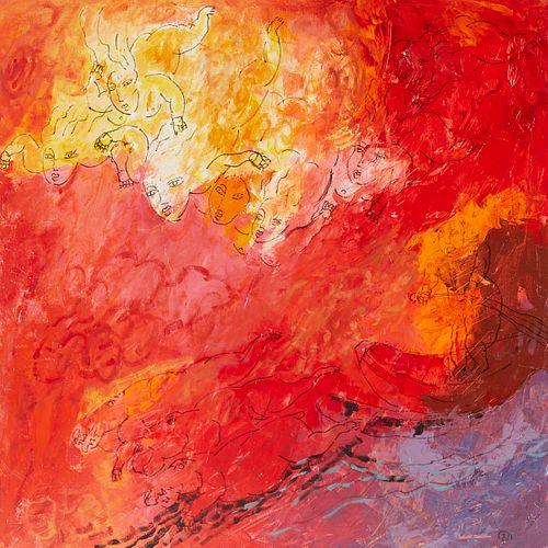 Yang Yang Judgment Day Acrylic on Canvas