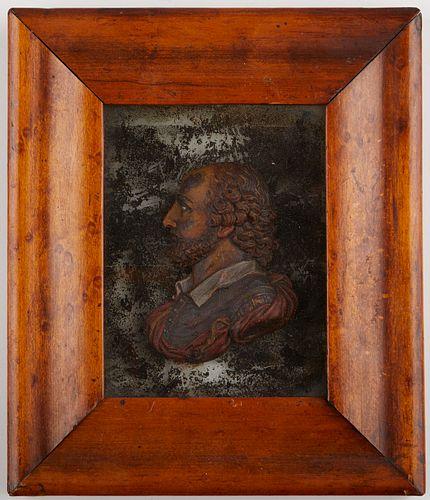 John Flaxman Wax Portrait Relief of Man