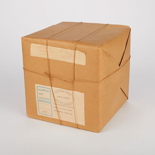 "Christo ""Wrapped Box"" Sculpture 1966"