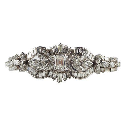 Women's Platinum Diamond Bracelet