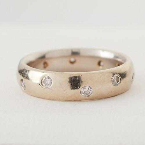 Custom 14K White Gold & Diamond Ring