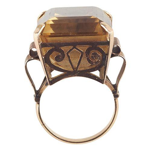 Women's 14K Yellow Gold Citrine Ring