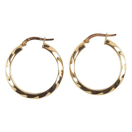 Pair of 18K Yellow Gold Earrings