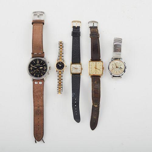 Grp: 5 Wristwatches - Gruen Mondaine