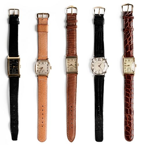 Grp: 5 Hamilton Wristwatches Gold Filled/Plated