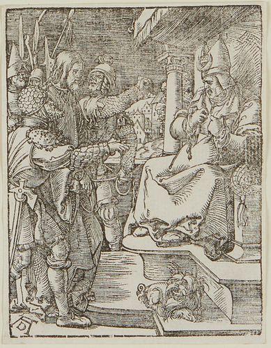 """Albrecht Durer """"Christ Before Caiaphas"""" Woodblock"""