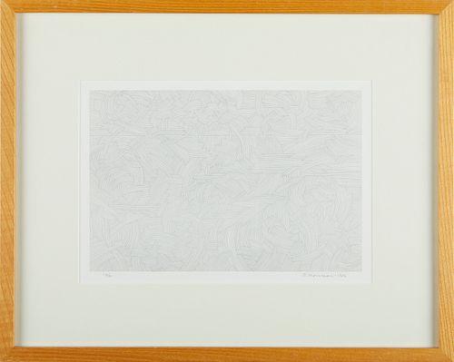 George Morrison Lithograph 1986