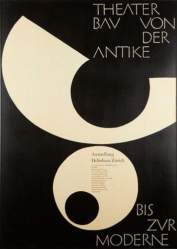 Armin Hofmann Poster 1955 Theater Bau Von der Antike bis zur Moderne