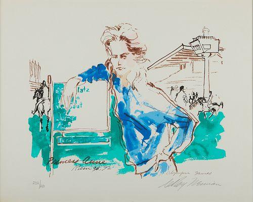 "LeRoy Neiman ""Princess Anne Olympic Games"" Screenprint 1972"