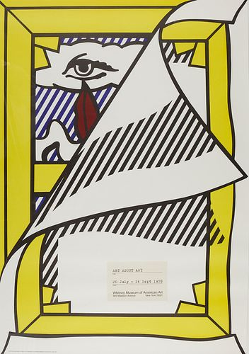 """Roy Lichtenstein """"Art About Art"""" Whitney Exhibition Poster"""