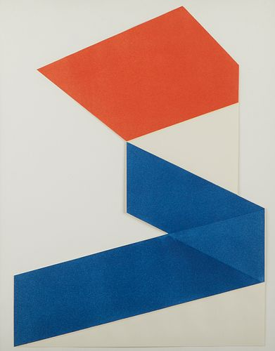 "Jack Sonenberg ""Dimensions #2"" Collograph"