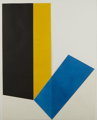 "Jack Sonenberg ""Dimensions #5"" Collograph"