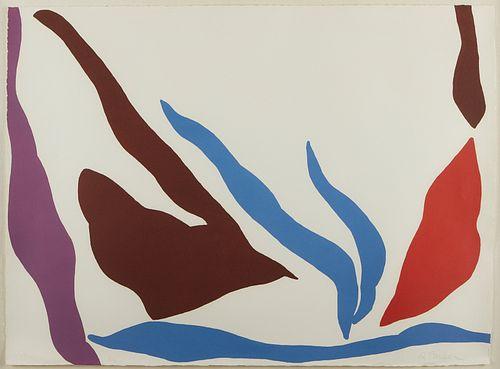 "Raymond Parker ""Composition 122"" Screenprint"