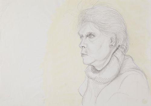 Jose Luis Cuevas Female Portrait Lithograph