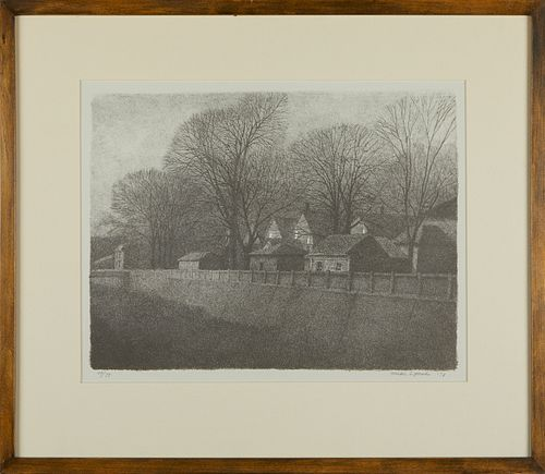 Mike Lynch Row of Houses Lithograph 1978