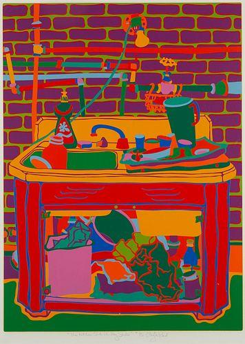 "Clayton Pond ""The Kitchen Sink in my Studio"" Screenprint"