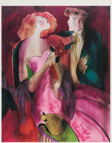 "Linda Le Kinff ""Robe du Soir (Evening Dress)"" Seriolithograph"