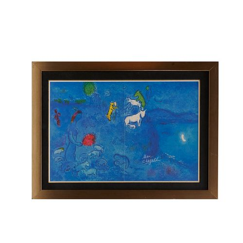 Marc Chagall, offset lithograph, signed