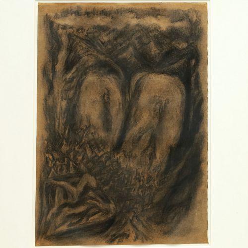 Bill Jensen, charcoal on paper, c. 1984-1985