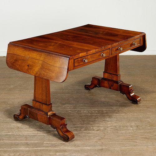Regency double drop leaf sofa table
