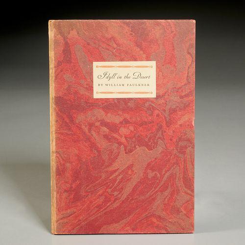 William Faulkner, Idylls in the Desert, signed 1st