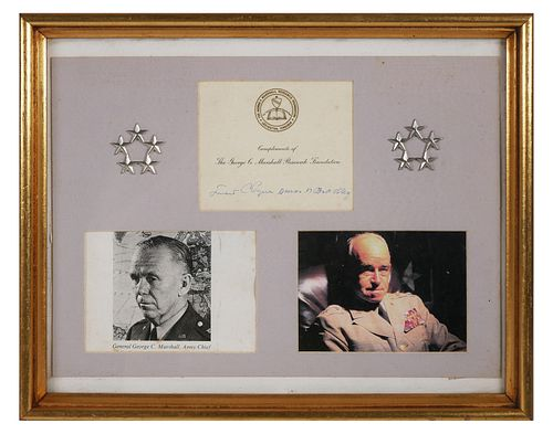 General OMAR BRADLEY Signed Card