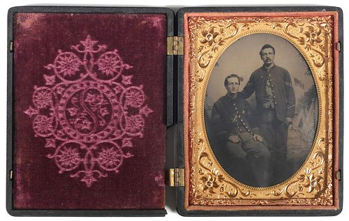 Antique Tintype Two Civil War Soldiers