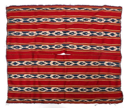 Antique Bolivian Poncho Weaving
