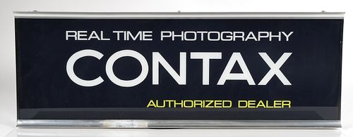 Rare CONTAX Real Time Photography Dealer Sign