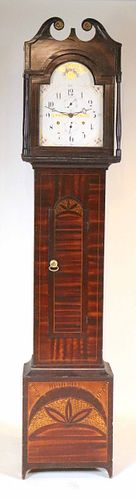 Federal Paint-Decorated Tall Case Clock