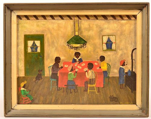 Contemporary Folk Art Painting.